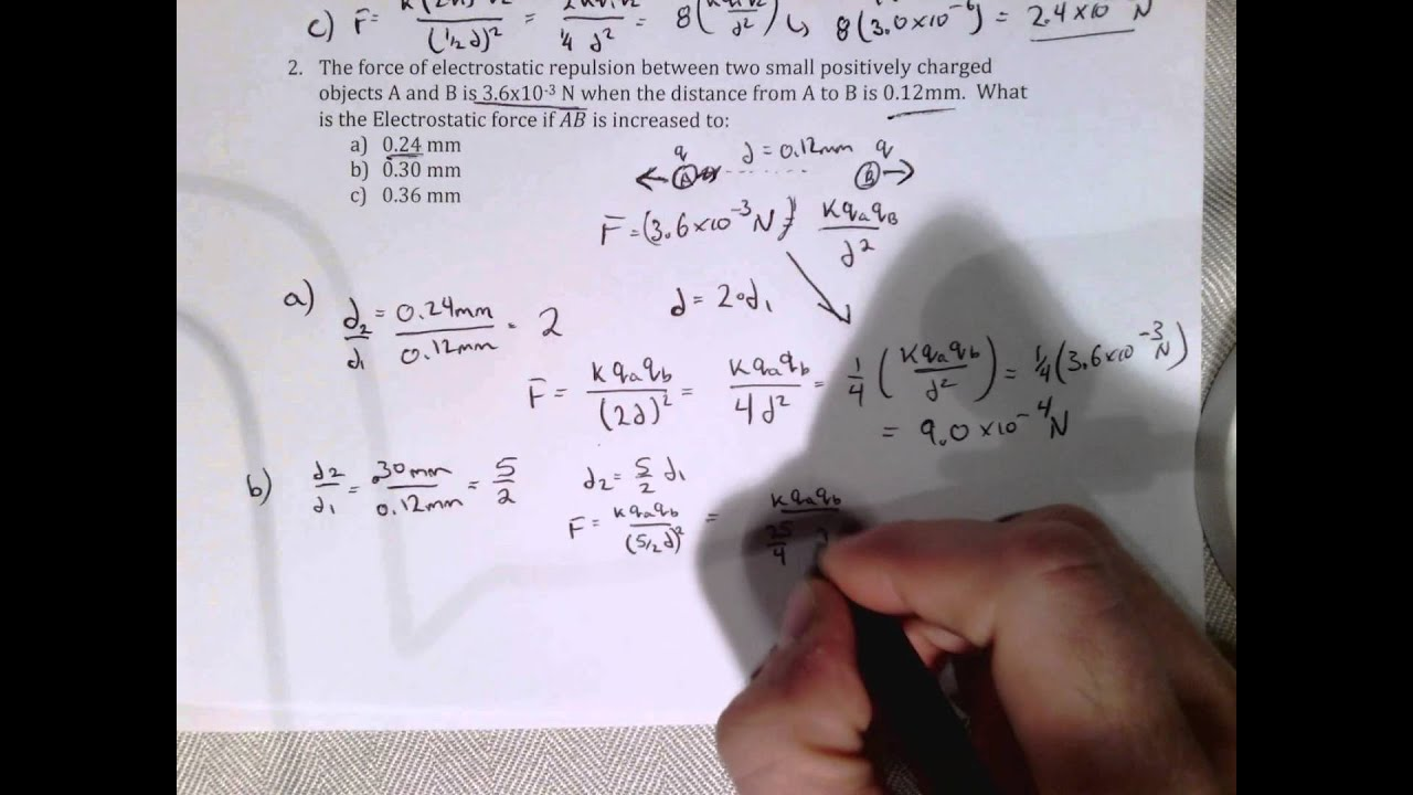 Electric Fields Worksheet Question 2 YouTube – Electric Field Worksheet
