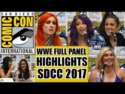 SDCC 2017 WWE FULL PANEL HIGHLIGHTS ! Sasha Banks, Bayley, Becky Lynch, The Bellas, Charlotte Flair