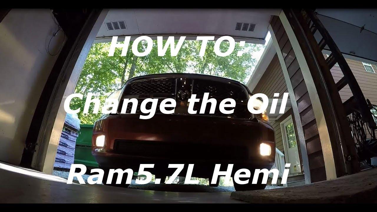 2014 5.7 hemi oil change