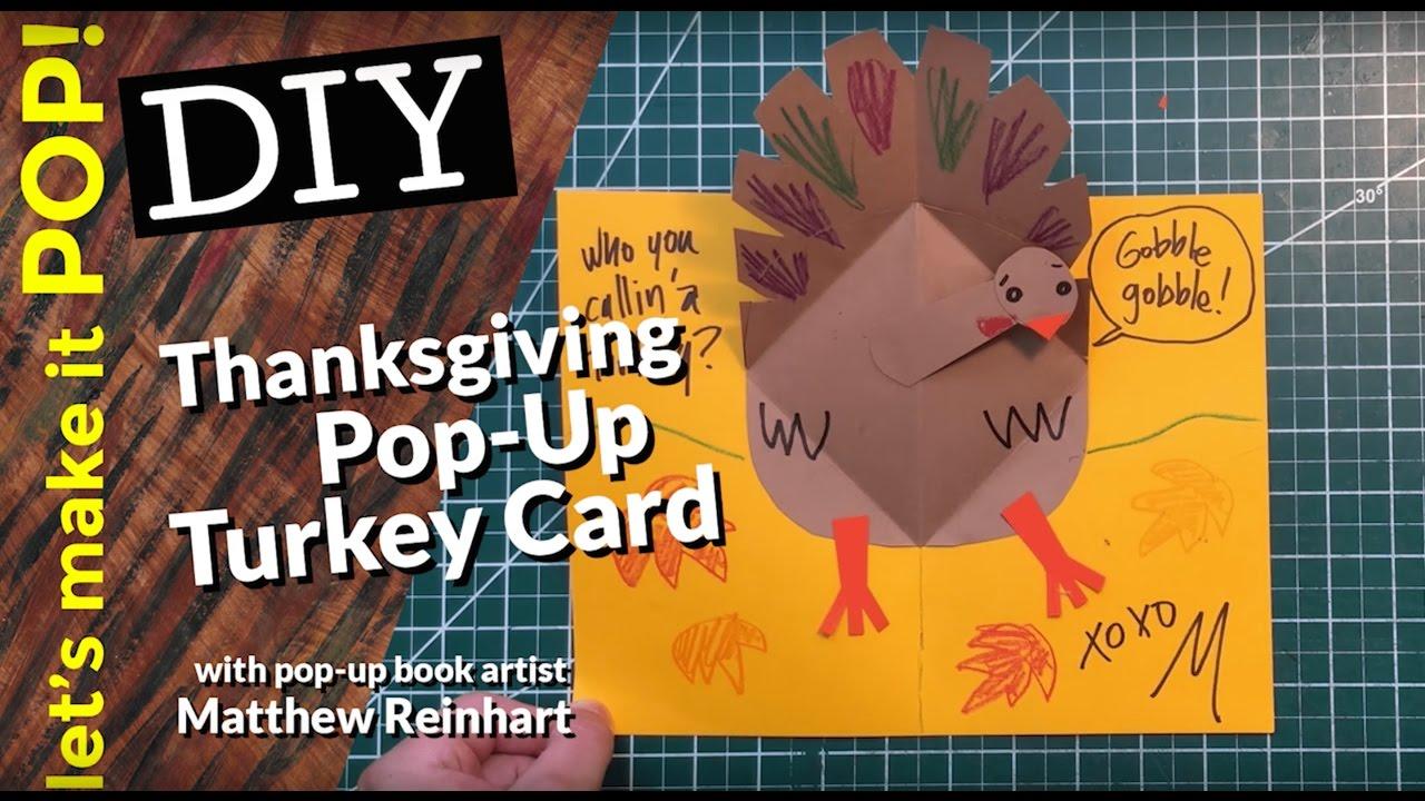 Lets make it pop thanksgiving pop up turkey card youtube thanksgiving pop up turkey card matthew reinhart kristyandbryce Image collections
