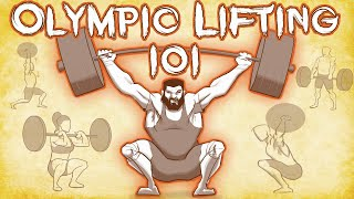 Olympic Weight Lifting 101! H๐w to weightlift, snatch and clean & jerk