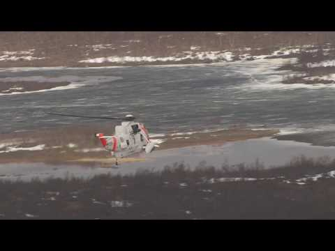Sea King, Luftambulanse, Skoganvarre - Flying Over Norway