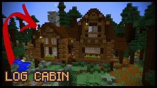 How To Make A Minecraft LOG CABIN