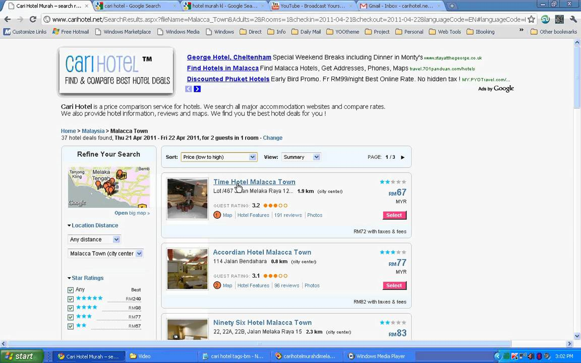 Cari Hotel Murah Di Melaka