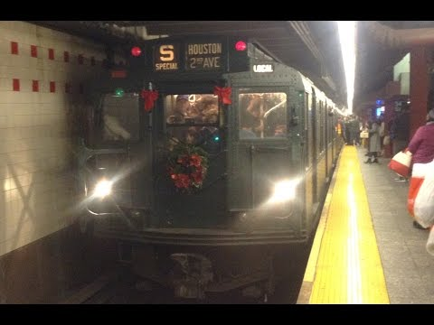 IND Subway: Downtown Bound R68 & R160 (D) (F) Trains + Nostalgia Train @ 34th Street-Herald Square