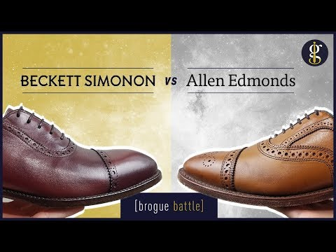 Beckett Simonon Vs Allen Edmonds | Strand, Fifth Avenue, Durant (Shoes Review)
