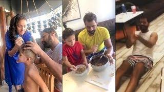 Kumkum Bhagya Abhi aka Shabir Ahluwalia fun time with Wife  kids