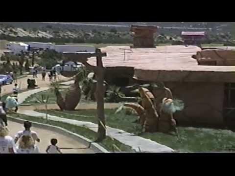 Flintstones Town of Bedrock movie set (Old VHS footage) Vasquez Rocks Pt1 V13827