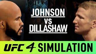 TJ Dillashaw Vs Demetrious Johnson - EA Sports UFC 4 Simulation - (CPU Vs CPU)