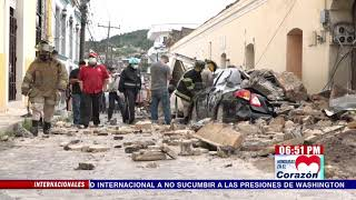 Autoridades evalúan estado de edificios históricos en #SantaRosadeCopán