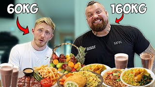 Gymnast tries to Eat 'Eddie Hall's' Boxing/Strongman Diet!