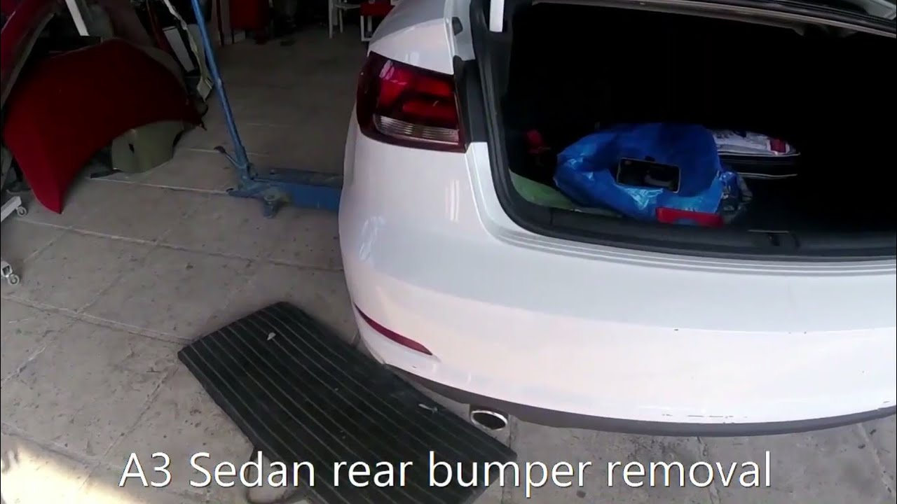 Audi a3 rear panel removal