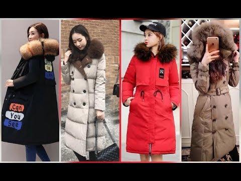 Аёллар курткалари.  Женские зимние длинные куртки