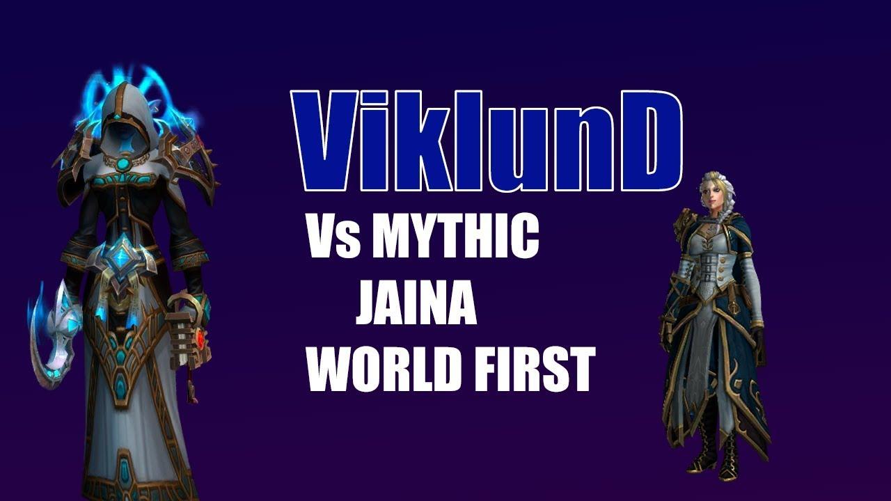 Method ViklunD vs Jaina Mythic World 1st (Spriest POV) - Youtube