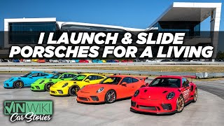 I get paid to launch & slide Porsches on track