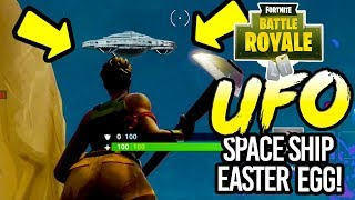 FORTNITE: Secret UFO Space ship Easter Egg Found in Fortnite (Fortnite Battle Royale)