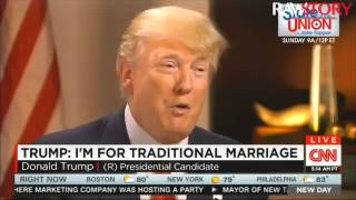 CNN host to Donald Trump: 'What's traditional about being married three times?'