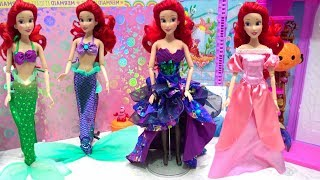 Mermaid Ariel Dress Up Disney Costume Makeup Bubble Bath Time Horse Carriage for Party