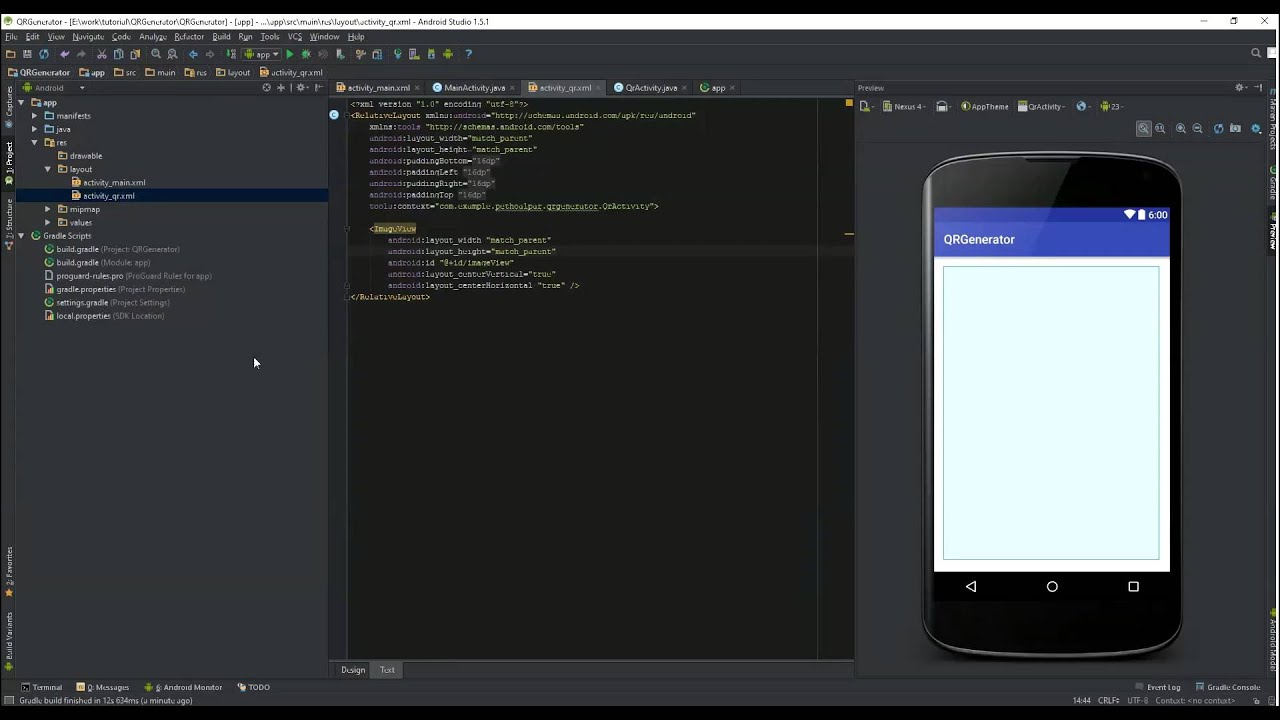 Generate Qr code with ZXing example