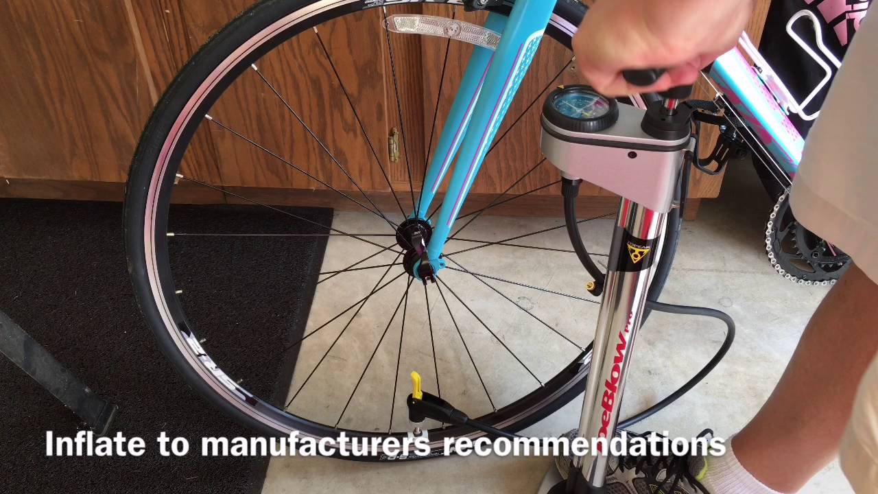 How To Inflate Road Bike Tires With Presta Valve Youtube