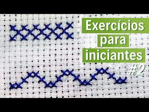 ❌2 exercícios simples para INICIANTES #2 - ponto cruz avesso PERFEITO
