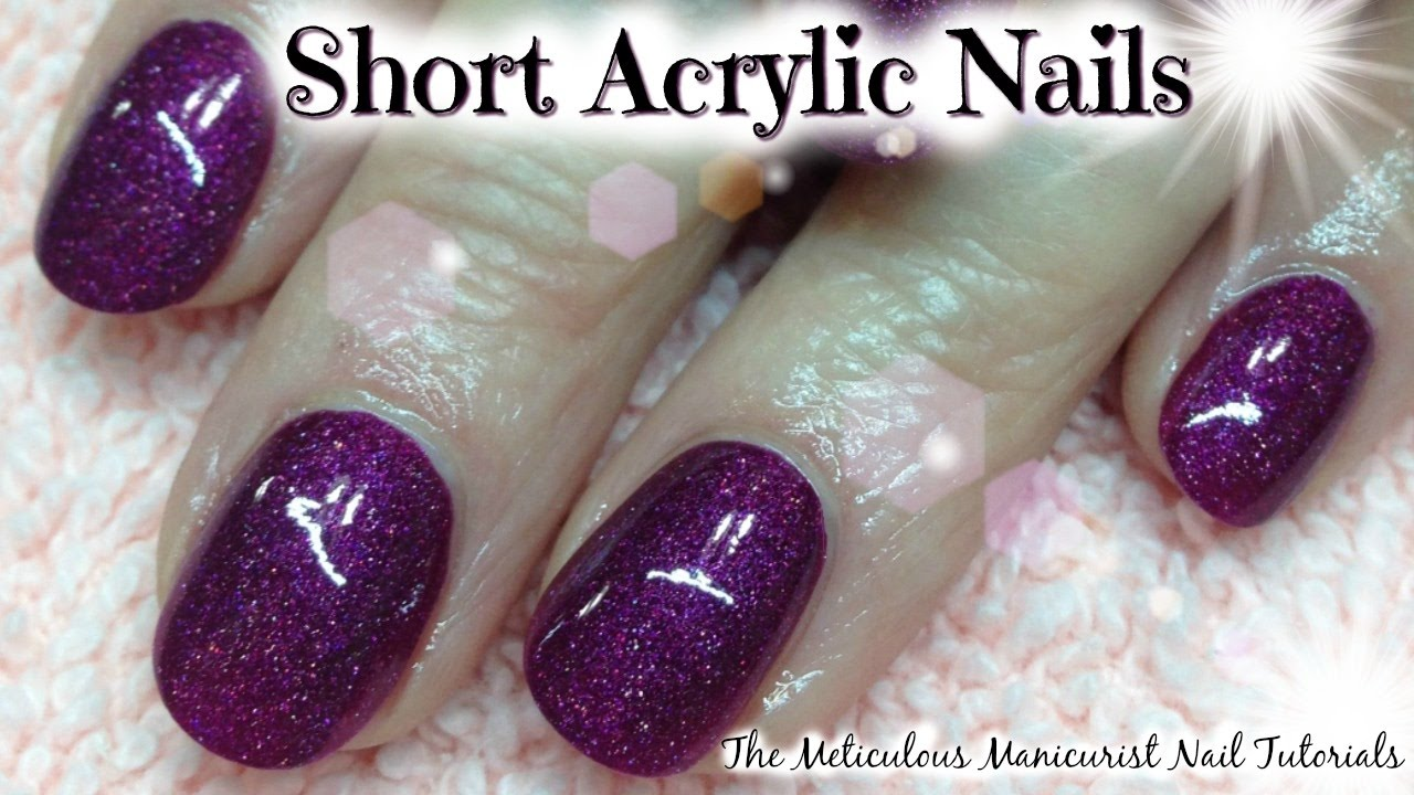 💅 Acrylic Nails Tutorial for Beginners Short Natural Acrylics by ...