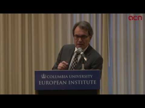 Catalan President held a conference in Columbia University about Catalonia's independence