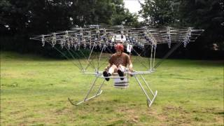 The Swarm Manned  Multirotor Multicopter is Back Flying