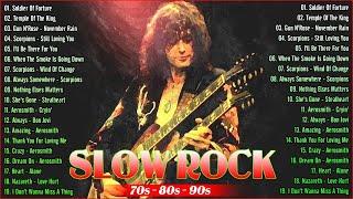 🔴 Aerosmith, Scorpions, Bon Jovi, Nazareth, Metallica - Top Slow Rock Of 80s 90s🔴