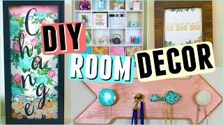DIY ROOM DECOR 2017! DIY Apartment Organization + Decor Ideas on a Budget! || Room Makeover 2017!