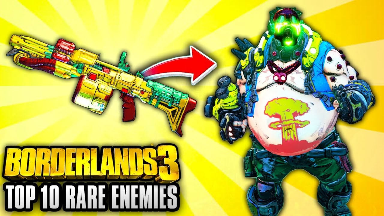 Borderlands 3 - Top 10 Legendary Weapons THAT DROP FROM RARE ENEMIES! thumbnail