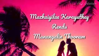 Mannile mannile song lyrics | Download👇| Mazhai | Tamil whatsapp status | RJ status