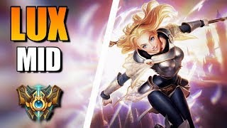 Lux Mid Lane Gameplay - Patch 9.18 (League of Legends Gameplay)