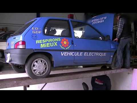 peugeot 106 electrique battery swap youtube. Black Bedroom Furniture Sets. Home Design Ideas