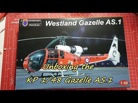 KP 1/48 Gazelle unboxing