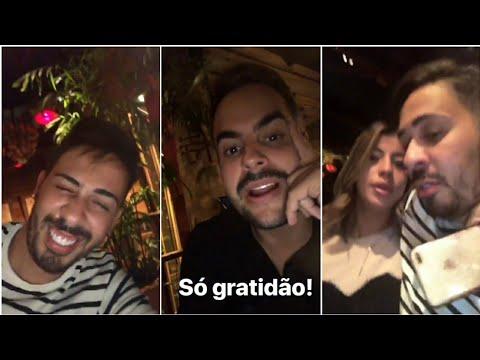 Carlinhos Maia janta com Kaká e Milena