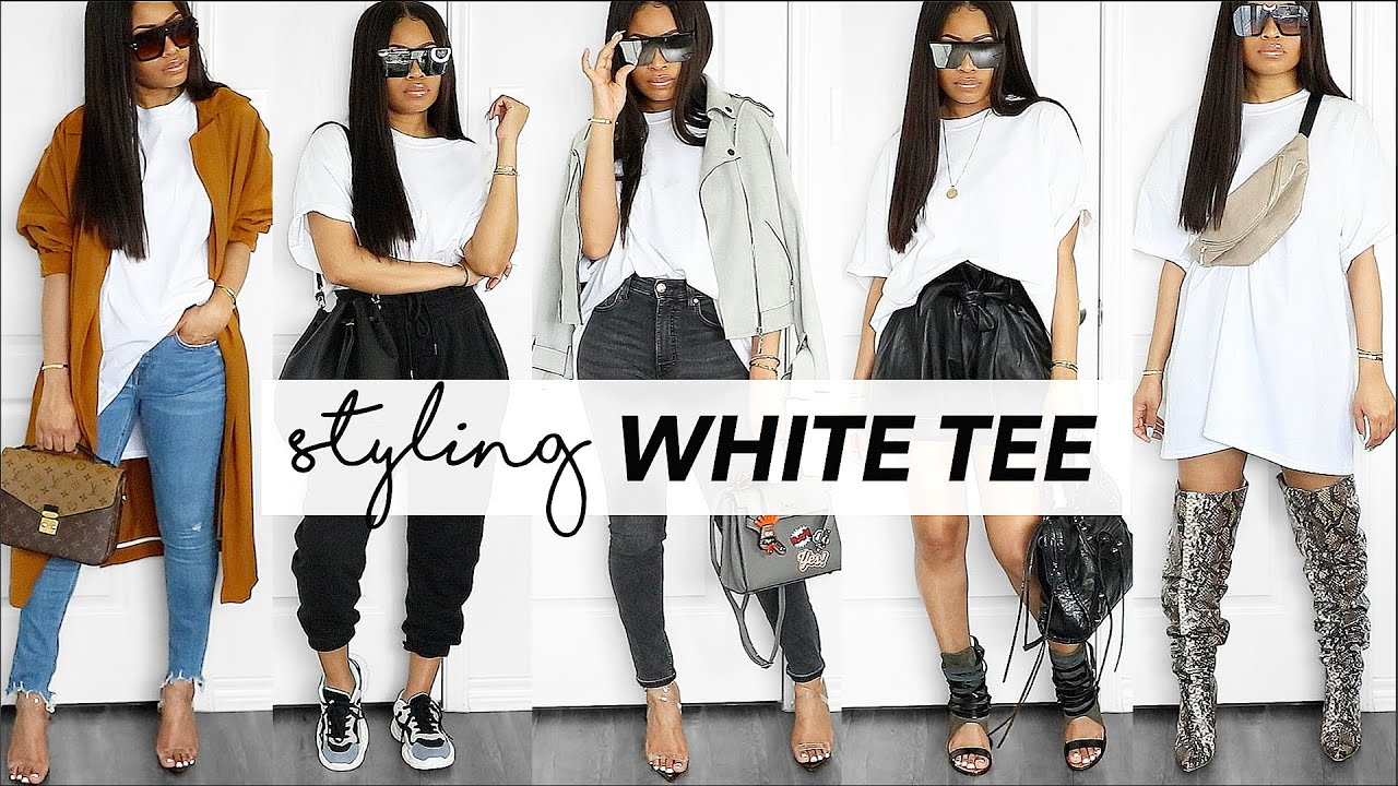 8 COOL WAYS TO WEAR A WHITE TEE // how-to style