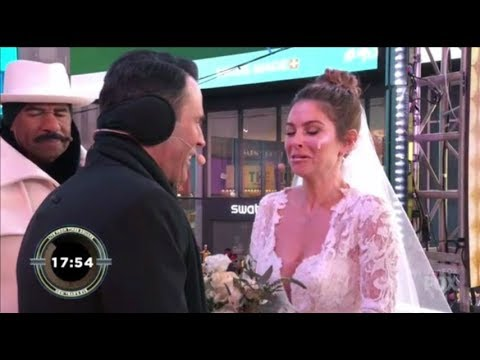 Maria Monounos Rocks The COLDEST Wedding In History On LIVE TV By Steve Harvey in Time Sq. NYE2018
