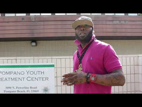 Coach Rube speaks at the Pompano Youth Treatment Center to deter adolescents from crime