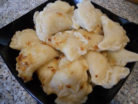 Постные блюда  Вареники с картошкой!