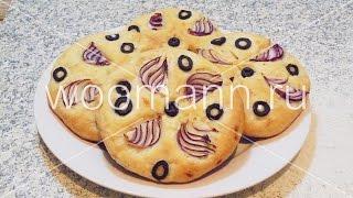Рецепт лепешки с маслинами и луком
