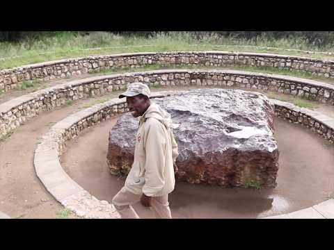 THE WORLD'S LARGEST METEORITE FOUND ON EARTH (THE HOBA) - GROOTFONTEIN, NAMIBIA