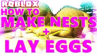 ROBLOX DINOSAURS: HOW TO LAY EGGS AND MAKE NESTS - PRIMAL LIFE - (Lets Play Video)
