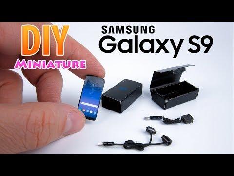 DIY Realistic Miniature Samsung Galaxy S9 | DollHouse | No Polymer Clay!