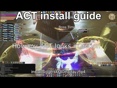 FFxiv ACT guide with timeline and overlay install - YouTube