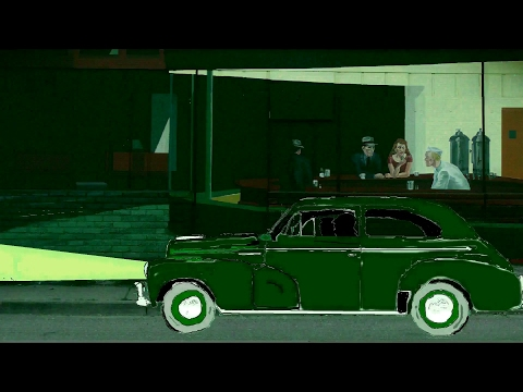 Coffee at the Nighthawks diner; filmed in (Ed)Hoppervision