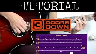 Cómo tocar Here Without You de Three Doors Down (Tutorial de Guitarra) / how to play