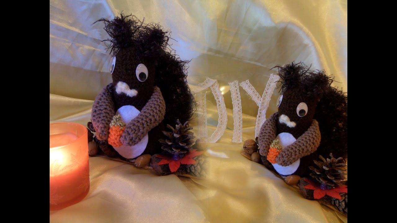 Diy Süsses Eichhörnchen Eichkätzchen Häkeln Teil 3 Youtube