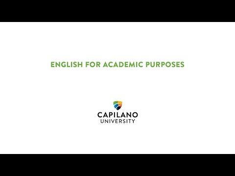 English for Academic Purposes at Capilano University