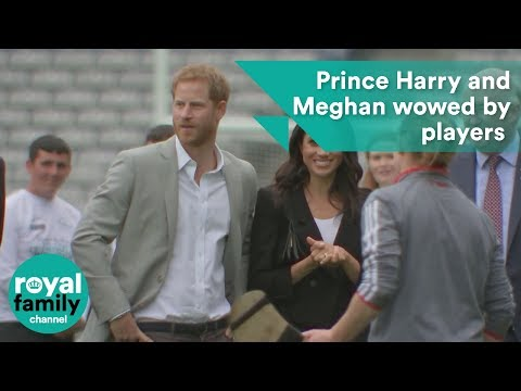 Prince Harry and Meghan, Duchess of Sussex wowed by players in Croke Park